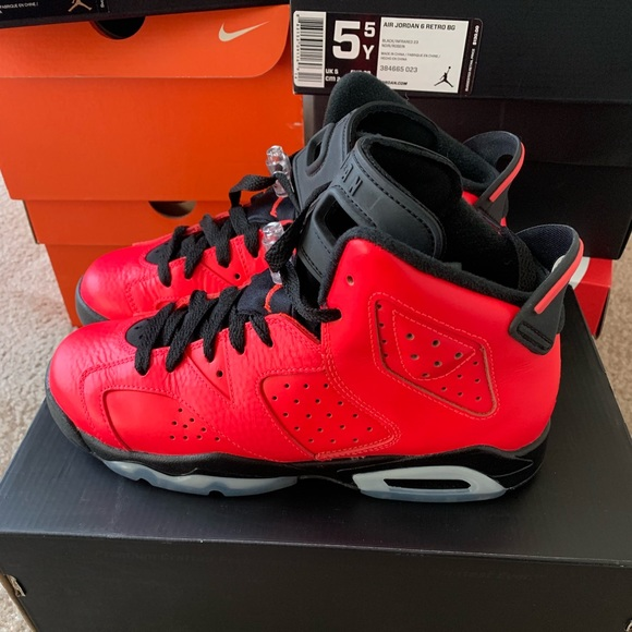 hot product cost charm where to buy 2014 Air Jordan 6 Infrared 23 (Toro) - GS sz 5.5Y